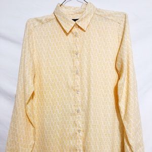 Ann Taylor blouse yellow floral size small